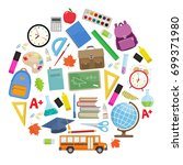 set of different school... | Shutterstock . vector #699371980