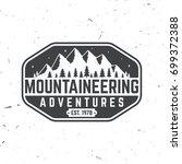 mountaineering adventure badge. ...   Shutterstock .eps vector #699372388