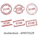 fish stamps | Shutterstock .eps vector #699373129