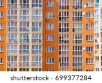 front view of the apartment...   Shutterstock . vector #699377284