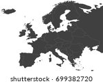 map of europe  with russia ... | Shutterstock .eps vector #699382720