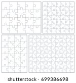 puzzle set 20  24  49  120... | Shutterstock . vector #699386698