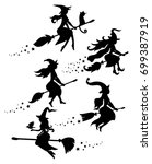 a set of black silhouettes of... | Shutterstock .eps vector #699387919