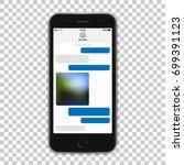 modern black phone template... | Shutterstock .eps vector #699391123