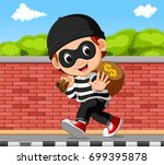 vector illustration of thief... | Shutterstock .eps vector #699395878