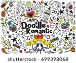 big set of romantic style hand... | Shutterstock .eps vector #699398068