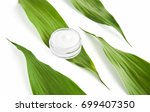 white cream bottle placed ... | Shutterstock . vector #699407350