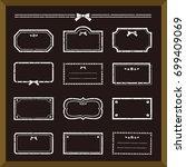set of girly frame on...   Shutterstock .eps vector #699409069