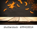 halloween holiday concept.... | Shutterstock . vector #699410014