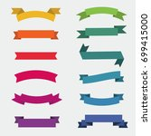 ribbons in different colors... | Shutterstock .eps vector #699415000