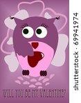 love owl | Shutterstock .eps vector #69941974