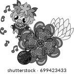 illustration of clover jewel...   Shutterstock .eps vector #699423433