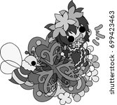 illustration of clover jewel...   Shutterstock .eps vector #699423463