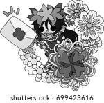illustration of clover jewel...   Shutterstock .eps vector #699423616