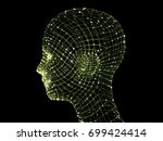 head of the person from a 3d... | Shutterstock . vector #699424414