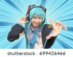 japan anime cosplay   cartoon... | Shutterstock . vector #699426466