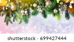 christmas and new year s... | Shutterstock . vector #699427444
