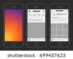 social media photo app display... | Shutterstock .eps vector #699437623