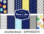 cute set of childish seamless...   Shutterstock .eps vector #699440374