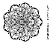 mandalas for coloring book.... | Shutterstock .eps vector #699444694