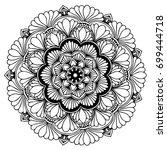 mandalas for coloring book....   Shutterstock .eps vector #699444718