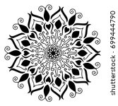 mandalas for coloring book.... | Shutterstock .eps vector #699444790
