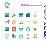 finance  money  banking and... | Shutterstock .eps vector #699446023