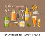 Vector Set Of Flat Line Icons...