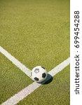 above view of football ball... | Shutterstock . vector #699454288