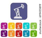 oil rig icons set  illustration ... | Shutterstock . vector #699455899