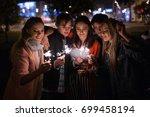 making wish process. waiting... | Shutterstock . vector #699458194
