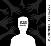 social anxiety disorder  ... | Shutterstock .eps vector #699461929