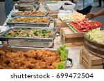 food buffet catering on the... | Shutterstock . vector #699472504