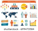 collection of infographic... | Shutterstock .eps vector #699473584