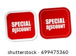 special discount stickers | Shutterstock .eps vector #699475360