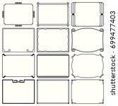 decorative simple frames  set... | Shutterstock .eps vector #699477403