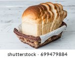 fresh homemade  baked bread and ... | Shutterstock . vector #699479884