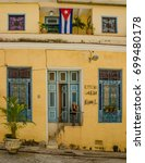 Small photo of HAVANA, CUBA - JUNE 19, 2016: A plaque and bust identify the home of Cirilo Villaverde, a famous author and freedom fighter of the Cuban movement of independence against the Spanish colonial power.