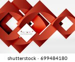 squares geometric object in... | Shutterstock .eps vector #699484180