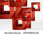 squares geometric object in... | Shutterstock .eps vector #699484318