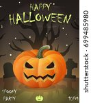 halloween festive poster card ... | Shutterstock .eps vector #699485980