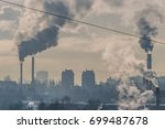Dirty City With Pollution Pipes