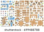 vector set of office. people at ... | Shutterstock .eps vector #699488788