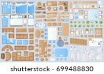icons set of interior.... | Shutterstock .eps vector #699488830