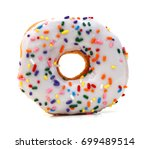 donut isolated on white... | Shutterstock . vector #699489514