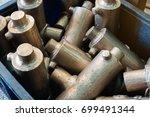 bronze bars. bronze barsfor... | Shutterstock . vector #699491344