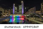 toronto city hall and toronto... | Shutterstock . vector #699491869