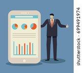 business concept of businessman ... | Shutterstock .eps vector #699491974