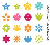 flower icon collection in flat... | Shutterstock .eps vector #699493204