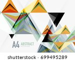 triangular low poly a4 size... | Shutterstock . vector #699495289